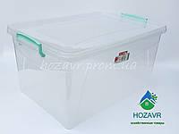 Пластиковый контейнер для хранения прозрачный 28 л