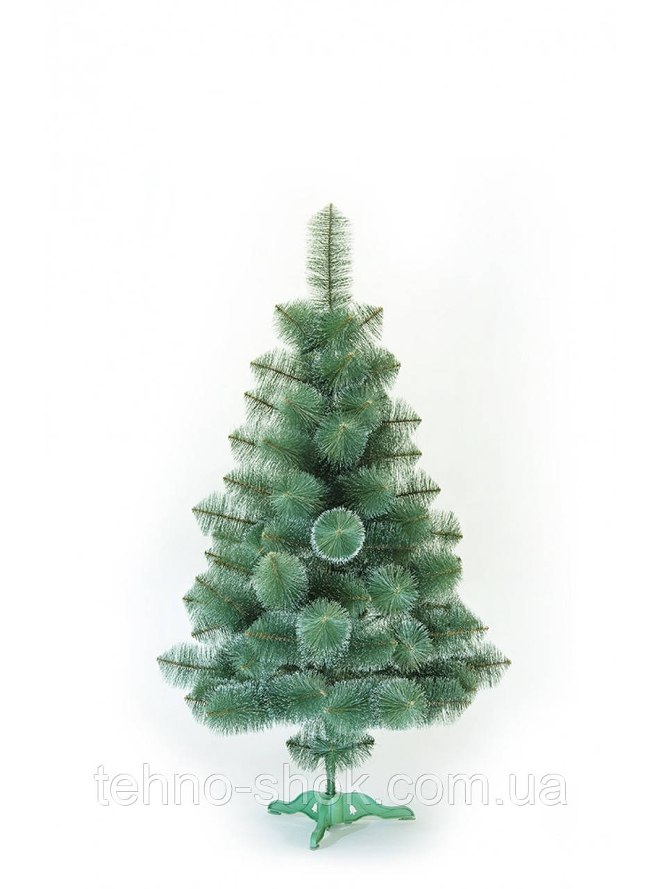 Сосна искусственная зелёная с белыми кончиками 1.5м (СШ-БК-1.5)