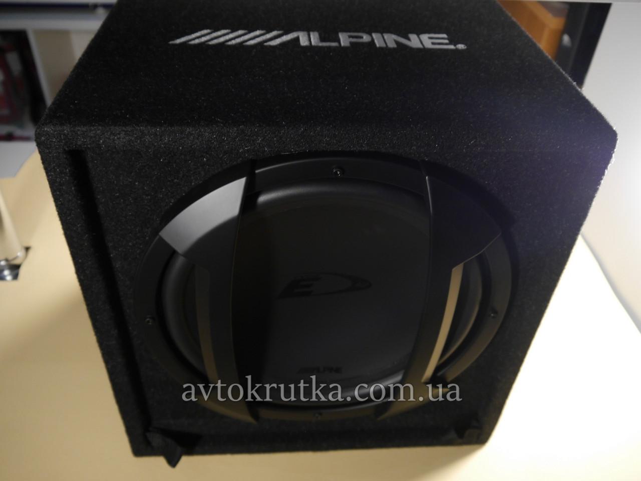 Автосабвуфер Alpine SBE-1244BR. Пассивный
