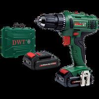Аккумуляторный шуруповерт DWT ABS-14 L-2 BMC мощность 14,4 В,крутящий момент 27 Нм,1250 обор/мин,2 аккумулятор