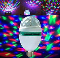 Диско лампа вращающаяся LED ly-399 Е27 светодиодная 3W + переходник