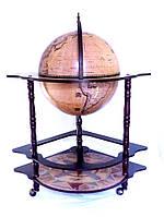 Глобус бар угловой 420мм Зодиак 42014N-1