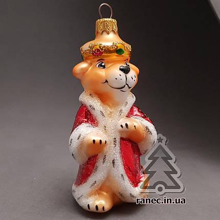 Стеклянная елочная игрушка Король Лев 376/с, фото 2