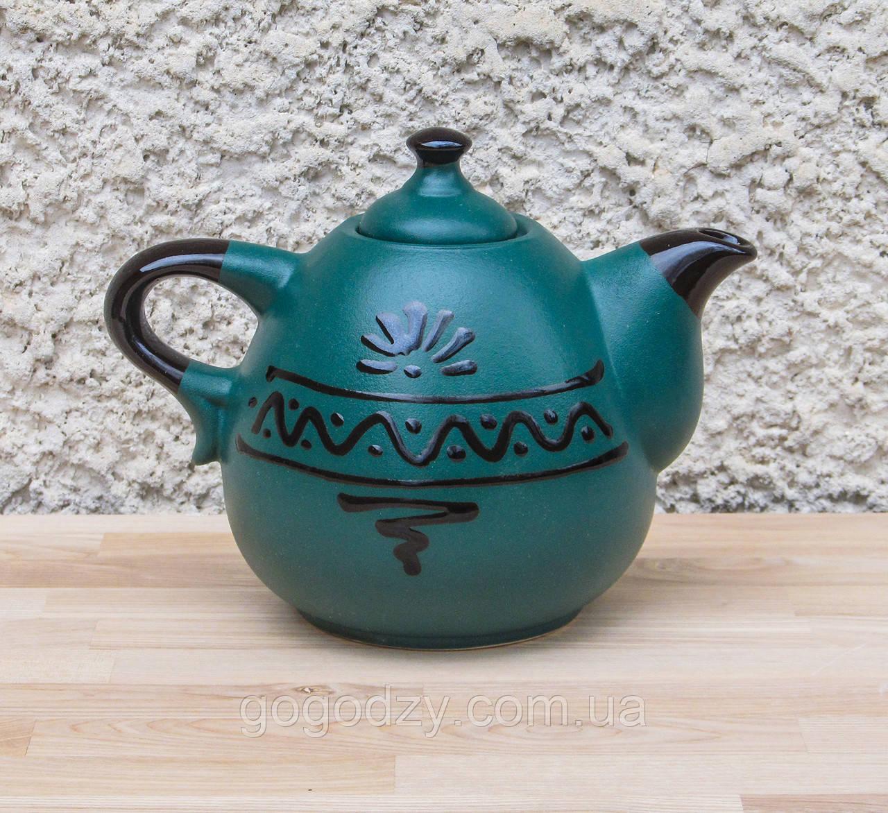 Чайник Крапля зелений