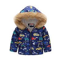 Демисезонная куртка для мальчика Светофор и транспорт Jomake