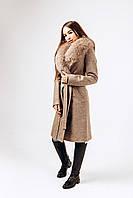 Зимнее пальто с мехом песца Д 378