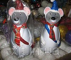 Мышка под елку. Новогоднее украшение под елку.