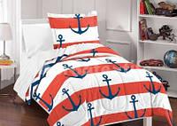 Комплект постельного белья двухспальный GLux бязь морская тематика