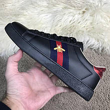 Gucci Ace Embroidered Sneaker Black Оу