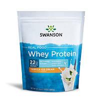 Сывороточный протеин - со вкусом ванили, Real Food Whey Protein - Vanilla Ice Cream Flavor, Swanson, 885 грам