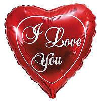 """Фольгированные шары мини-фигуры """"Красное сердце """"I LOVE YOU"""""""