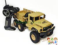 Военная машина на радиоуправлении. Грузовик детская игрушка 4 WD, АККУМУЛЯТОР, СВЕТ, АМОРТИЗАТОРЫ XB1002