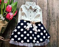 Нарядное платье для девочки с пышной юбкой и поясом