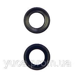 Стекло камеры для APPLE iPhone 6/6S чёрное с серой рамкой