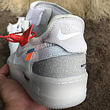 Nike Air Force 1 OFF WHITE White О Му, фото 9