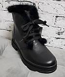 Ботинки молодежные на толстой подошве из натуральной кожи от производителя модель БС8035, фото 2