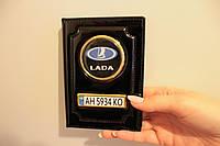 Обложка для документів (чорна глянцева) Lada