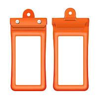 Водонепроницаемая сумка Finval для смартфона плавающая оранжевая