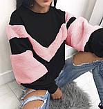 Теплая кофта свитер свитшот толстовка худи на меху Тедди, фото 6