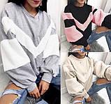 Теплая кофта свитер свитшот толстовка худи на меху Тедди, фото 7