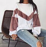 Теплая кофта свитер свитшот толстовка худи на меху Тедди, фото 5