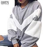 Теплая кофта свитер свитшот толстовка худи на меху Тедди, фото 8