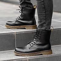 Ботинки мужские зимние Dr. Martens (МЕХ), мужские черные ботинки мартенс