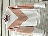 Теплая кофта свитер свитшот толстовка худи на меху Тедди, фото 3