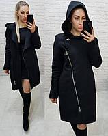 Зимнее кашемировое пальто, утепленное!!! Черное, арт. 136, фото 1
