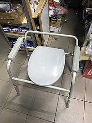 Стул туалет с крышкой и регулировкой высоты для людей с ограниченными возможностями