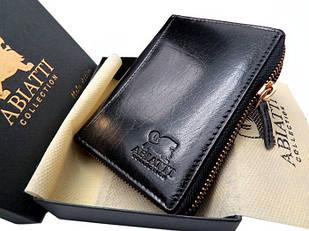 Мужской кожаный кошелек портмоне Abiatti черный K001