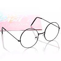 Имиджевые очки круглые черные