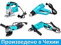 Набор инструментов: Дрель ударная, Фен промышленный, Болгарка, Лобзик.
