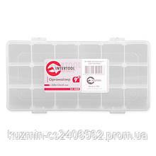 """Пластиковый органайзер для инструментов 9"""" 230*125*35мм INTERTOOL BX-4000"""