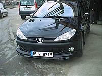 Peugeot 206 1998-2012 гг. Передняя нижняя юбка (под покраску)