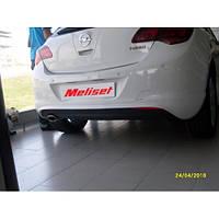 Opel Astra J 2010+ гг. Задняя нижняя юбка HB (под покраску)