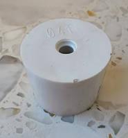 Пробка резиновая ø 41/37мм для гидрозатвора на бутыль с отверстием ø 7мм под гидрозатвор