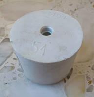 Пробка резиновая ø 51/48 мм Biowin для гидрозатвора на бутыль с отверстием ø 7мм под гидрозатвор