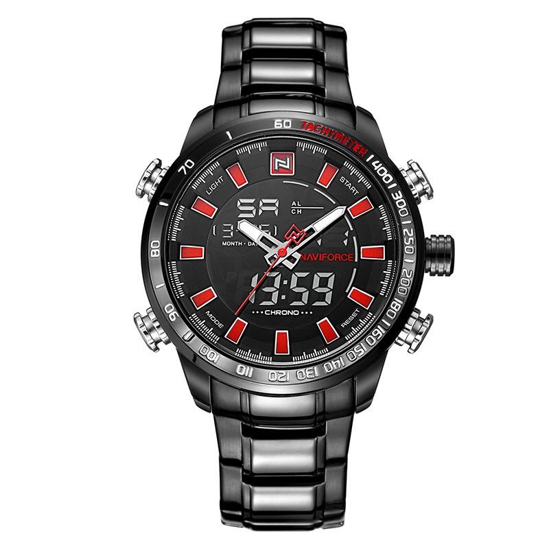 Мужские часы Naviforce 9093 (black-red)