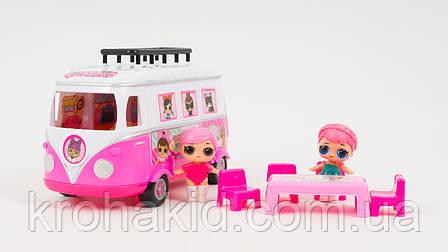 Игровой набор Лол автобус игровая площадка  / Lol camper car / Автобус с куклами lol аналог, фото 2