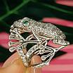 Серебряное кольцо Лягушка - Стильное кольцо Жабка из родированного серебра, фото 6