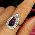 Серебряное кольцо с фиолетовым камнем, фото 6