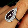 Серебряное кольцо с фиолетовым камнем, фото 5