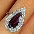 Серебряное кольцо с фиолетовым камнем, фото 4