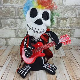 Интерактивная игрушка Скелет с гитарой ( поет песню Move It On Over и танцует )