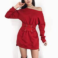 Платье  туника женское красное, чёрное, белое