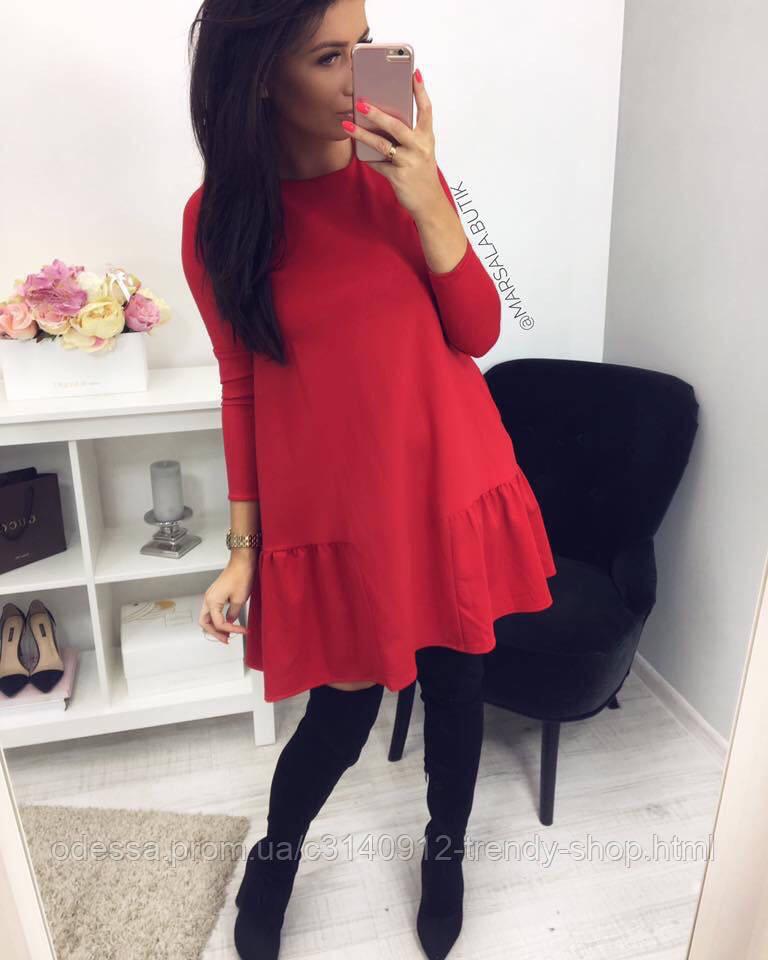 Платье женское стильное чёрное, красное, бежевое, бутылка