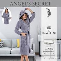 """Женский теплый короткий халат с капюшоном """"Angel's Secret"""""""