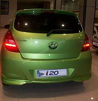 Hyundai I-20 2008-2012 гг. Задняя нижняя юбка (под покраску)