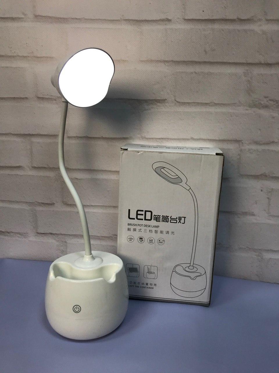 Компактна портативна Яскрава без провідна настільна Лампа з сенсорним управлінням. Краща Ціна!